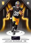 2018 Playbook Purple Parallel Football #178 Jaylen Samuels Pittsburgh Steelers Rookie  Official NFL Card Produced by Panini