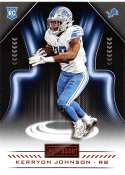2018 Playbook Orange Parallel Football #115 Kerryon Johnson Detroit Lions Rookie  Official NFL Card Produced by Panini