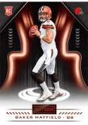 2018 Playbook Orange Parallel Football #128 Baker Mayfield Cleveland Browns Rookie  Official NFL Card Produced by Panini