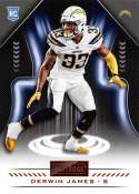 2018 Playbook Orange Parallel Football #149 Derwin James Los Angeles Chargers Rookie  Official NFL Card Produced by Panini