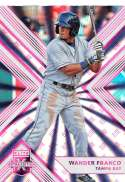 2018 Elite Extra Edition EEE Pink Baseball #67 Wander Franco Tampa Bay Rays  Official NCAA/Prospect Trading Card By Panini Blaster Exclusive Pink Para