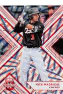 2018 Elite Extra Edition EEE Aspirations Red Baseball #4 Nick Madrigal SER/150 Chicago White Sox  Official NCAA/Prospect Trading Card By Panini