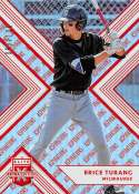 2018 Elite Extra Edition EEE Aspirations Orange Baseball #20 Brice Turang SER/100 Milwaukee Brewers  Official NCAA/Prospect Trading Card By Panini