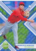 2018 Elite Extra Edition EEE Aspirations Tie-Dye Baseball #118 Francisco Morales SER/25 Philadelphia Phillies  Official NCAA/Prospect Trading Card By