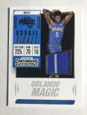 2018-19 Panini Contenders Rookie Ticket Swatches Basketball Mo Bamba Jersey/Relic With Pin StripeOrlando Magic  Official NBA Card From Panini