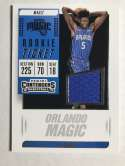 2018-19 Panini Contenders Rookie Ticket Swatches Basketball Mo Bamba Jersey/Relic BlueOrlando Magic  Official NBA Card From Panini