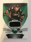 2018-19 Upper Deck Trilogy Green Foil Jerseys Hockey #31 Ryan Getzlaf Jersey/Relic SER/628 Anaheim Ducks  Official Trading Card From UD