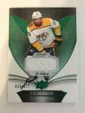 2018-19 Upper Deck Trilogy Green Foil Jerseys Hockey #33 P.K. Subban Jersey/Relic SER/377 Nashville Predators  Official Trading Card From UD