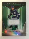 2018-19 Upper Deck Trilogy Green Foil Jerseys Hockey #59 Anthony Cirelli Jersey/Relic SER/499 Tampa Bay Lightning  Official Trading Card From UD