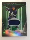 2018-19 Upper Deck Trilogy Green Foil Jerseys Hockey #63 Travis Dermott Jersey/Relic SER/499 Toronto Maple Leafs  Official Trading Card From UD