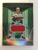 2018-19 Upper Deck Trilogy Green Foil Jerseys Hockey #65 Henrik Borgstrom Jersey/Relic SER/499 Florida Panthers  Official Trading Card From UD