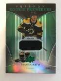 2018-19 Upper Deck Trilogy Green Foil Jerseys Hockey #76 Ryan Donato Jersey/Relic SER/499 Boston Bruins  Official Trading Card From UD