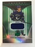 2018-19 Upper Deck Trilogy Green Foil Jerseys Hockey #80 Elias Pettersson Jersey/Relic SER/499 Vancouver Canucks  Official Trading Card From UD