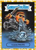 2019 Topps Garbage Pail Kids We Hate the '90s Films Sticker A-Names Fool's Gold Non-Sport #3 TERMI NATE SER/50  Collectible Trading Card Sticker (Term