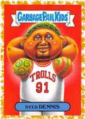 2019 Topps Garbage Pail Kids We Hate the '90s Music and Celebrities Sticker A-Names Fool's Gold Non-Sport #7 DYED DENNIS Collectible Trading Card Stic