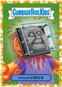 2019 Topps Garbage Pail Kids We Hate the '90s Toys Sticker B-Names Fool's Gold Non-Sport #1 STUCK CHUCK SER/50  Collectible Trading Card Sticker