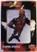 2019 Upper Deck Deadpool Deadpatch Tier 3 NonSport Trading Card #DP39 Deadpool Speaking Patch  Official UD Trading Card Celebrating Deadpool Comic Boo