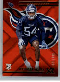 2018 Panini Xr Red Football #123 Rashaan Evans SER/299 Tennessee Titans Rookie  Official NFL Trading Card
