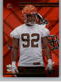 2018 Panini Xr Red Football #134 Chad Thomas SER/299 Cleveland Browns Rookie  Official NFL Trading Card