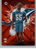 2018 Panini Xr Red Football #136 Jerome Baker SER/299 Miami Dolphins Rookie  Official NFL Trading Card