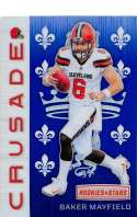 2018 Rookies and Stars Crusade Football #35 Baker Mayfield Cleveland Browns  Official NFL Trading Card Produced by Panini