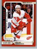 2018-19 O-Pee-Chee Update Red Border Hockey #643 Filip Hronek Detroit Red Wings  NHL Trading Cards from Upper Deck Serie Two Pack