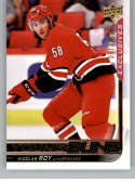 2018-19 Upper Deck Exclusive Hockey Series Two #476 Nicolas Roy SER/100 Carolina Hurricanes  Official NHL Trading Card from UD