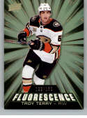 2018-19 Upper Deck Fluorescence Hockey Series Two #F-24 Troy Terry SER/150 Anaheim Ducks  Official NHL Trading Card from UD