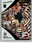 2018-19 Revolution Chinese New Year Emerald Basketball #115 Donte DiVincenzo SER/88 Milwaukee Bucks Rookie  Official NBA Trading Card By Panini