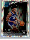 2018-19 Donruss Optic Shock Basketball #168 Marvin Bagley III Sacramento Kings Rated Rookie  Official NBA Trading Card Produced By Panini