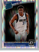 2018-19 Donruss Optic Shock Basketball #185 Kostas Antetokounmpo Dallas Mavericks Rated Rookie  Official NBA Trading Card Produced By Panini