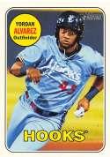 2018 Topps Heritage Minor League Baseball Magenta Backs #111 Yordan Alvarez Corpus Christi Hooks  Official MILB Trading Card