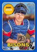 2018 Topps Heritage Minor League Baseball Blue #90 Danny Jansen SER/99 Buffalo Bisons  Official MILB Trading Card