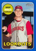 2018 Topps Heritage Minor League Baseball Blue #127 Brent Rooker SER/99 Chattanooga Lookouts  Official MILB Trading Card