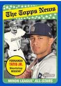 2018 Topps Heritage Minor League Baseball Blue #190 Fernando Tatis Jr. SER/99 San Antonio Missions  Official MILB Trading Card