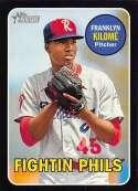 2018 Topps Heritage Minor League Baseball Black #104 Franklyn Kilom� SER/50 Reading Fightin Phils  Official MILB Trading Card