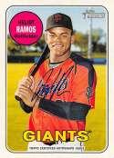 2018 Topps Heritage Minor League Baseball Real One Autographs #ROA-HR Heliot Ramos Auto Autograph AZL Giants  Official MILB Trading Card