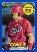 2018 Topps Heritage Minor League Baseball Real One Autographs Blue #ROA-BMA Brandon Marsh Auto Autograph SER/99 Orem Owl Official MILB Trading Card