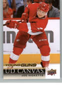 2018-19 Upper Deck Canvas Hockey Series Two #C213 Joe Hicketts Detroit Red Wings Young Guns Short Print Official UD NHL Hockey Card