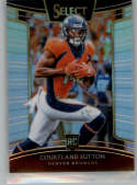 2018 Select Silver Prizm Football #76 Courtland Sutton Denver Broncos Concourse RC Rookie Card Official NFL Trading Card From Panini