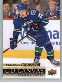 2018-19 Upper Deck Canvas Hockey Series Two #C234 Adam Gaudette Vancouver Canucks Young Guns Short Print Official UD NHL Hockey Card