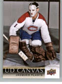 2018-19 Upper Deck Canvas Hockey Series Two #C250 Jacques Plante Montreal Canadiens Retired Stars Short Print Official UD NHL Hockey Card