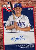 2019 Topps Opening Day Autographs Baseball #ODA-WA Willy Adames Auto Autograph Tampa Bay Rays  Official MLB Trading Card