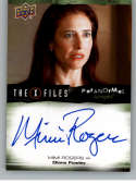 2019 Upper Deck X-Files UFOs and Aliens Autographs NonSport #A-RO Mimi Rogers Auto Autograph  Official Entertainment Trading Card From UD