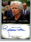 2019 Upper Deck X-Files UFOs and Aliens Autographs NonSport #A-RT Rebecca Toolan Auto Autograph  Official Entertainment Trading Card From UD