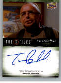 2019 Upper Deck X-Files UFOs and Aliens Autographs NonSport #A-TB Tom Braidwood Auto Autograph  Official Entertainment Trading Card From UD