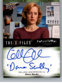 2019 Upper Deck X-Files UFOs and Aliens Paranormal Script Autographed Inscriptions NonSport #A-GA Gillian Anderson Auto  Official Entertainment Tradin