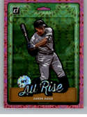 2019 Donruss Nicknames Pink Firework Baseball #1 Aaron Judge New York Yankees  Official MLB Trading Cards From Panini