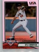 2019 Panini Stars and Stripes Longevity Base Emerald Baseball #2 Kyle Brnovich SER/5 USA Baseball Collegiate National Te Official USA Trading Card