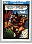 1990 Impel Marvel Universe NonSport Trading Card #160 Spider-Man Presents: Wolverine